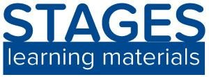 stages learning materials logo blue on a white background