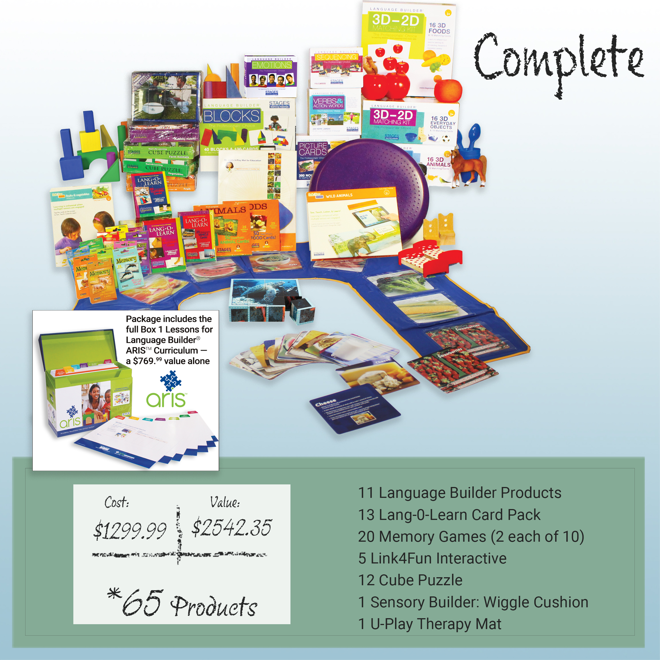 Collage of Stages Products with text Value is $2542.35. Cost is $1299.99. Includes 67 products