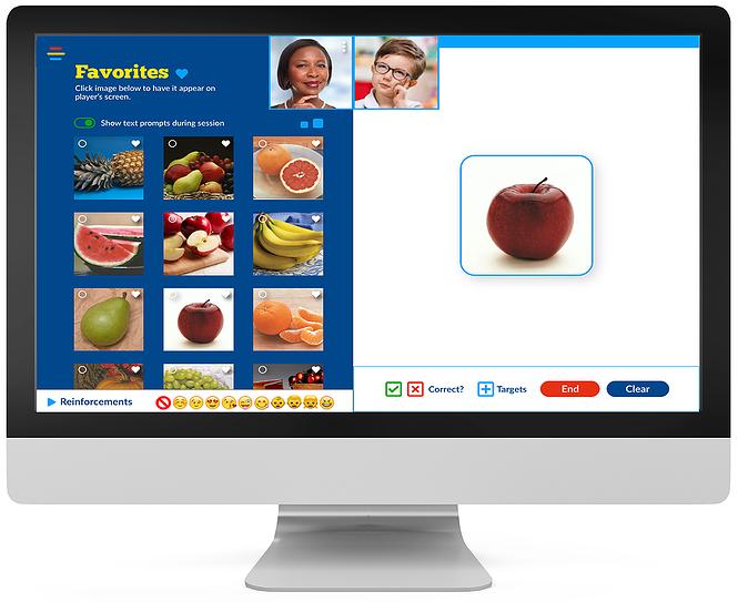 Autism Learning Line Digital platform on computer screen