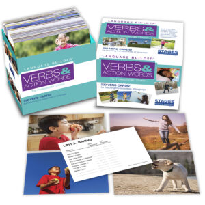Language Builder Verb Cards with cards out of box