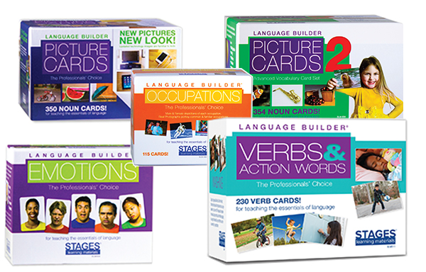 Picture of 5 boxes of Stages Flashcards