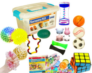 Sensory Builder Kit with products out of box